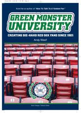 Green Monster University: Creating Die-Hahd Red Sox Fans Since 1901