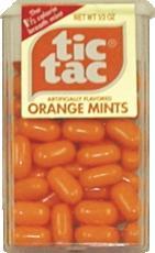 Orange Tic Tac's