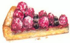 Raspberry swirl tart