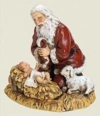 Santa Kneels with Baby Jesus