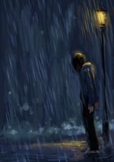 as i walk through the rain