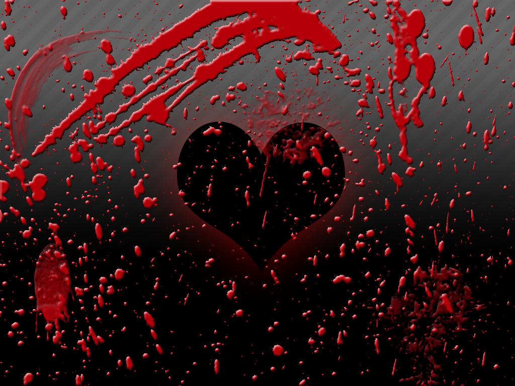сделать картинки кровавого сердца него