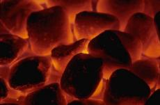 Dying coal embers