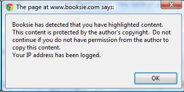 Booksie Testing New Copyright Protection - Warning and IP
