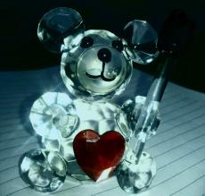 glass teddy