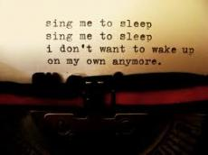Please Sing Me to Sleep
