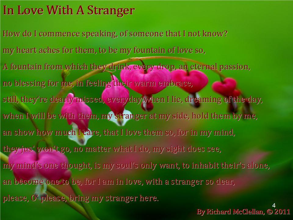 poem to a stranger