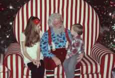 REd Neck Santa and Rudoph
