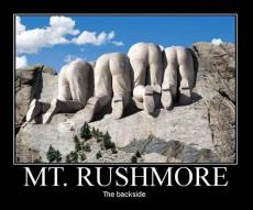 ON MOUNT RUSHMORE