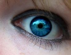 Dark blue eyed