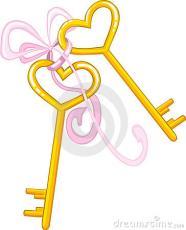 Heart-Shaped Little Gold Key