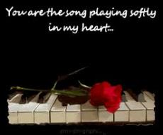 Your  the song playing in  my heart
