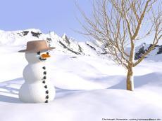 Snowman On Chrismass Eve