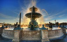 The fountain by the sea