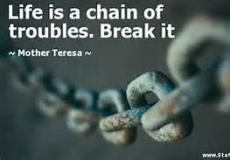 Troubles about life