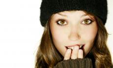 Beautiful, Pale Blue eyes.