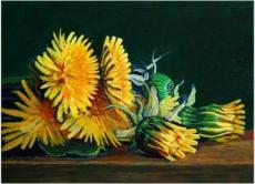 Bouquet of dandelions, A jar of fish, Carpet