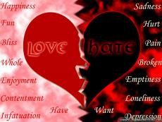 Love and Hatred; Diamante Poem