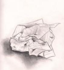 Crumpled Up Pieces
