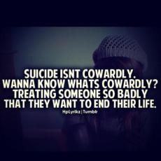 I do not believe suicide is selfish