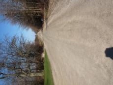 Cold road, warm skies.