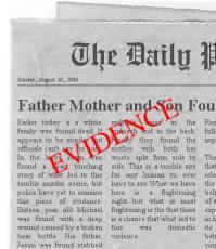 EVIDENCE ON SCENE
