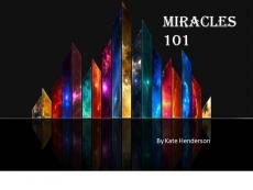 Miracles 101