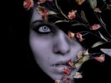 Pale skin, Beautiful blue eyes, Blood