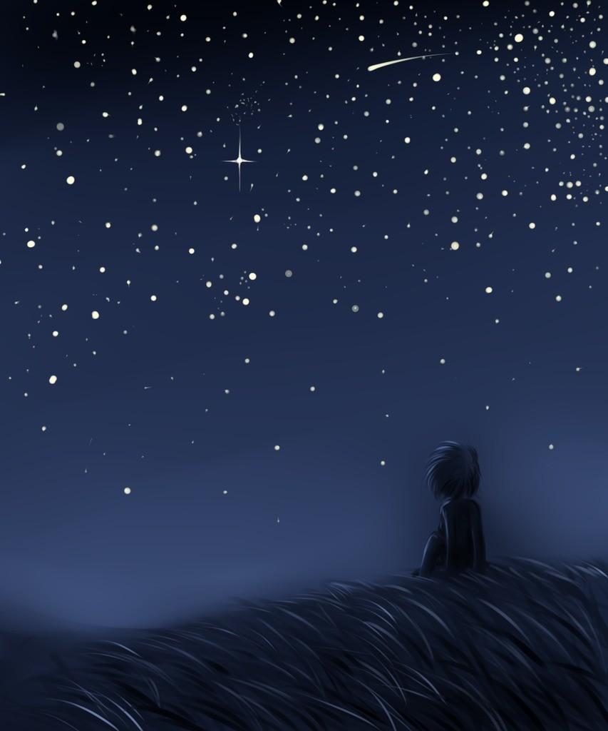 тихая ночь падающих звезд картинки открытки прикольные