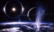 Snowfall on Enceladus