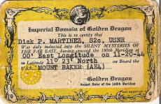 Golden Dragon Card