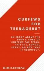 Curfews for Teenagers?