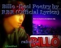 Billo -Desi Poetry by RBR (Official Lyrics)