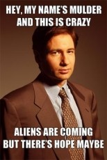 Mulder, Put Your Clothes Back On!