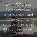 Restoration- Made me over
