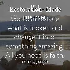 Restoration- Made me over