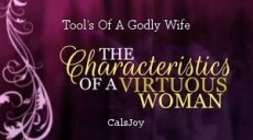 Tool's Of A Godly Wife