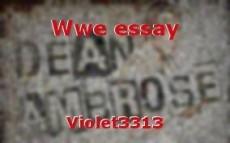 Wwe essay