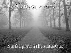 Alone on a road