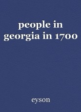 people in georgia in 1700