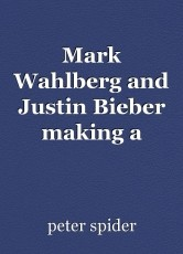 Mark Wahlberg and Justin Bieber making a movie