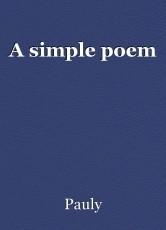 A simple poem