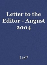 Letter to the Editor - August 2004