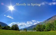 Merrily in Spring