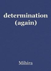determination (again)