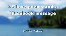 35 love poems and a ¨Facebook message¨