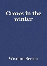 Crows in the winter
