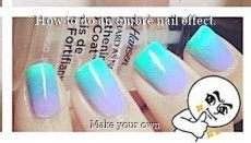 How to do an ombrè nail effect.