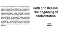Faith and Reason: The beginning of confrontation