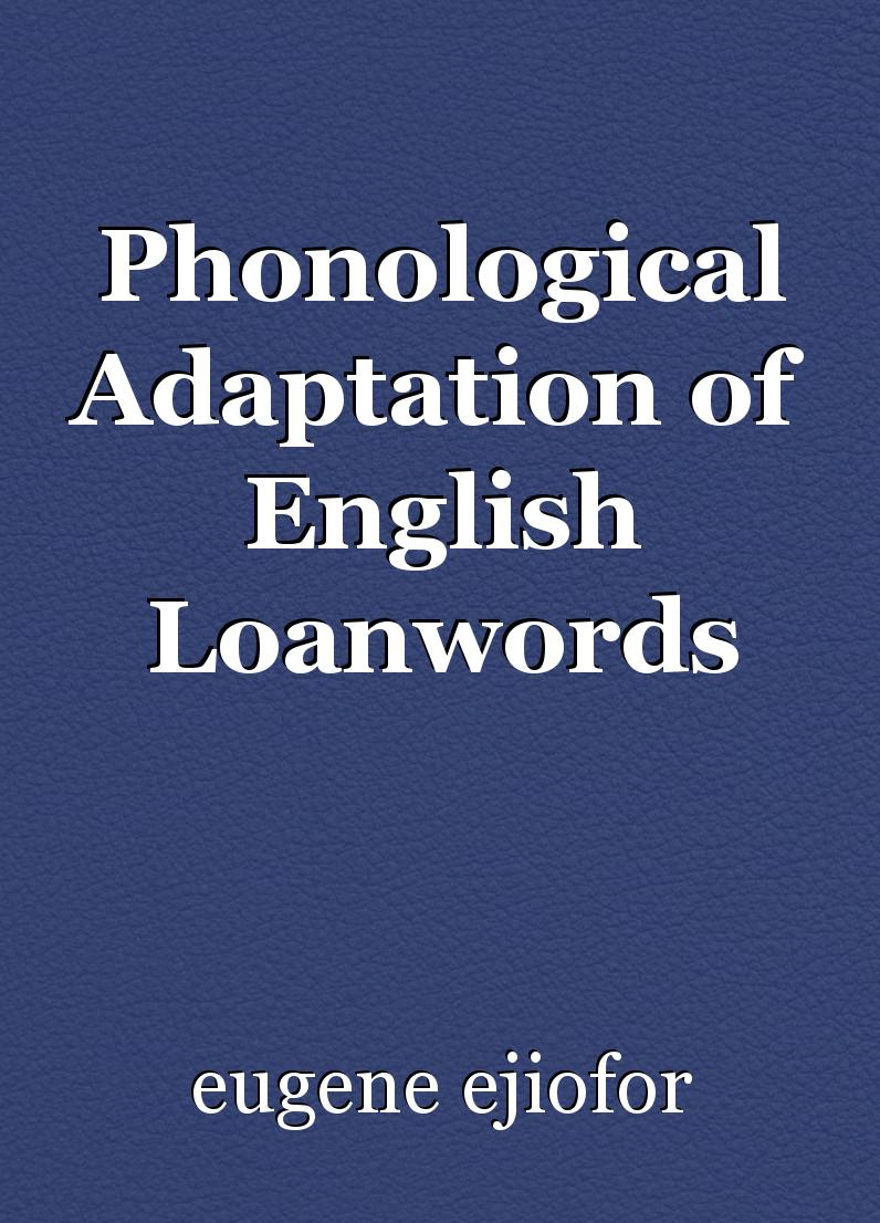 vowel epenthesis in loanword adaptation Distinctive feature theory cambridge university press uffmann, christian  2007 vowel epenthesis in loanword adaptation (linguistische arbeiten 510.